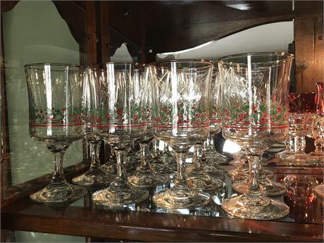Set of 12 Christmas Glasses