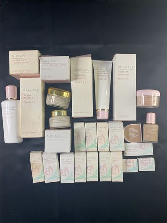 Mary Kay skin care/makeup lot. 27 items.