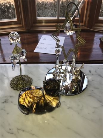 Lenox Crystal Cat and Other Crystals