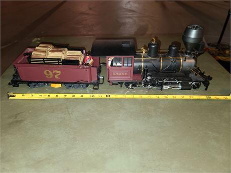 LGB Santa Fe 2-6-0 Locomotive & Tender 29192