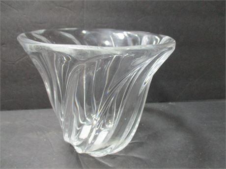 "Vintage Heavy Fine Crystal 5 1/2"" Val St Lambert Glass Bowl"
