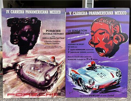 Rare Vintage Carrera Panamericana Mexico Posters on Foam Core