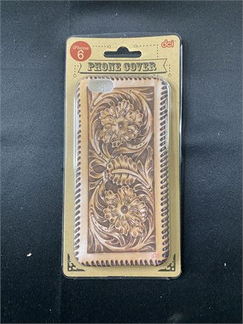 Case of 96 iPhone cases. Tooled leather. Fits 6