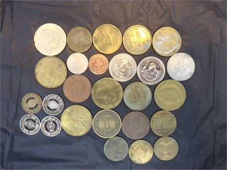 Various token and collectibles