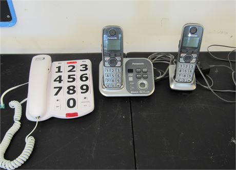 Panasonic Answering System and Large Button Phone