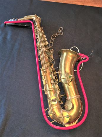 Vintage King Saxophone with Neon Light