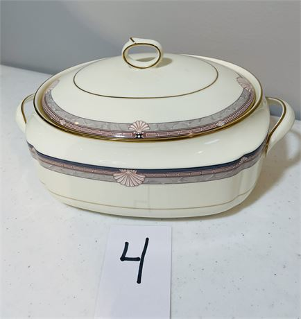 """Noritake """"Stanford Court"""" Covered Serving Bowl - Fine Bone China from Japan"""