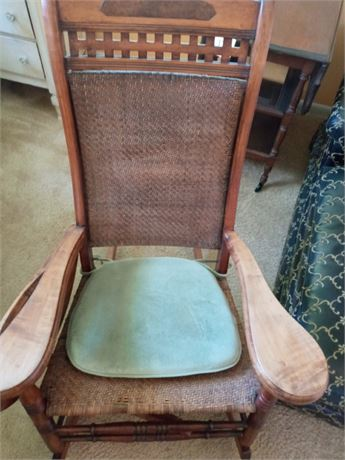 Antique Rocker with Attached Desk/Tray