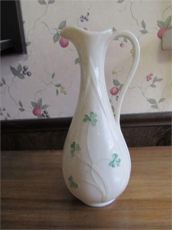 Beleek Irish Flower Pitcher Vase