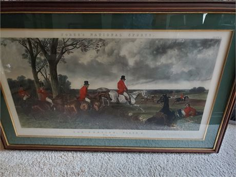 Fores's National Sports Fox Hunting Plate 3 The Run
