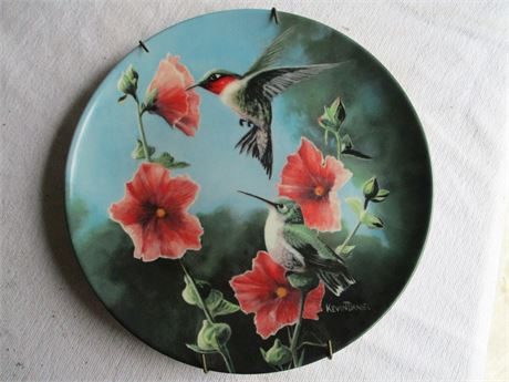 Vintage Kevin Daniels Hummingbird Limited Edition Art Knowles Plate