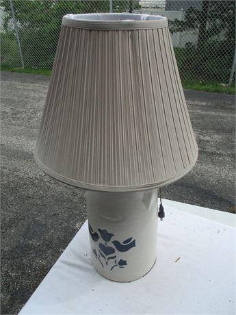 "Vintage 29"" Stoneware Williamsburg Pottery Table Lamp"