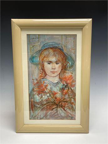 EDNA HIBEL FLOWER GIRL Limited Edition Framed Print