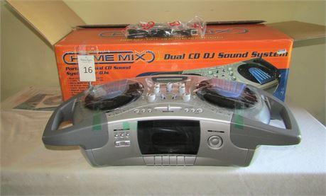 Home Mix Portable Dual DJ CD Sound System