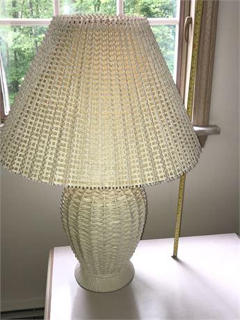 Wicker Look Lamp