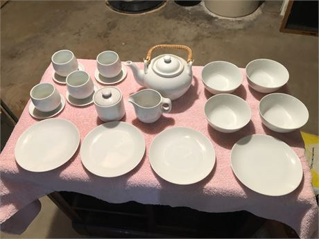 Vintage Children's White porclain China Tea Service MCM Set