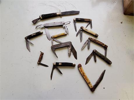 Antique Pocket Knives Lot