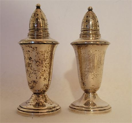 Sterling Salt & Pepper Shakers - Crown Sterling Weighted