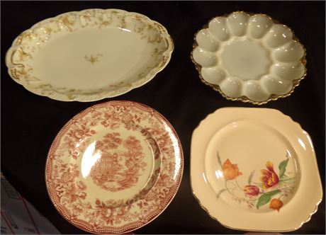 Plates, egg serving dish