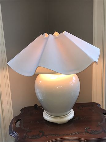 Ceramic Lamp with Awesome Shade