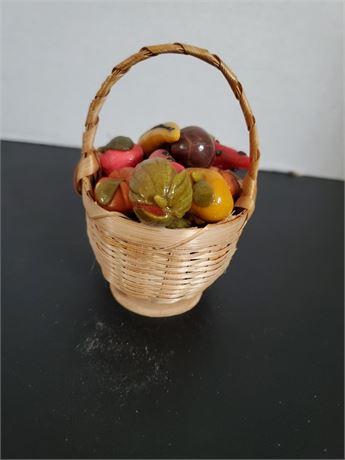 Vintage Miniature Fruit Basket