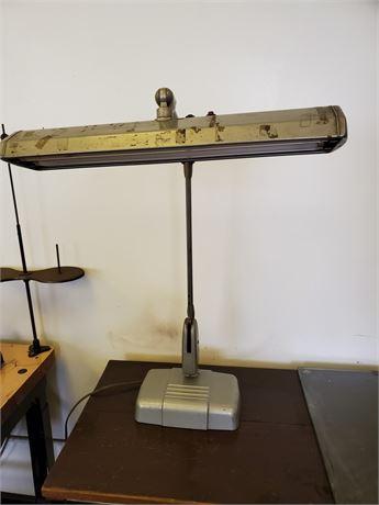 Vintage Dazor Floating Fixture Adjustable Lamp