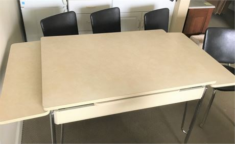 MCM Chrome Leg Table and Four Chairs