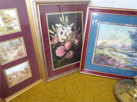 3 Framed Pictures