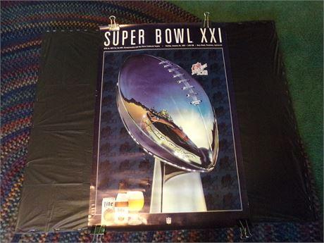 Superbowl poster