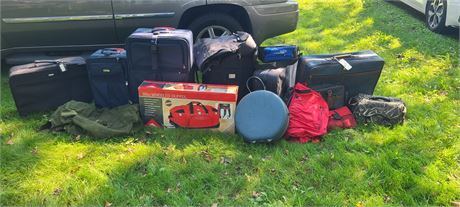 Large Assortment Of Luggage & Duffel Bags