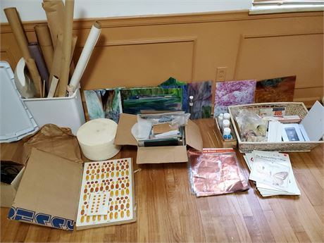 Stained Glass Supplies Lot