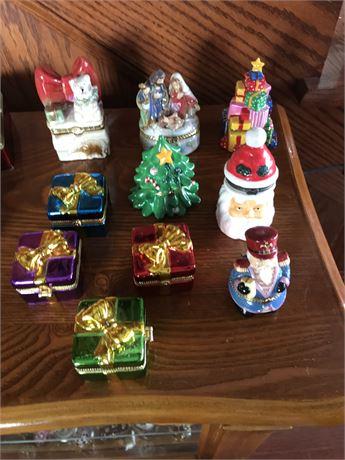 Christmas Themed Ring Box Lot (10)