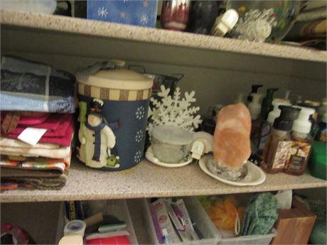 Closet Clean Out: 1 Shelf loaded