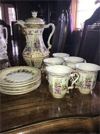 Royal Crown Hand Painted Tea Set
