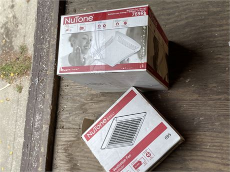 Two Nutone Ventilation Fans - 1 with Light (new in box)