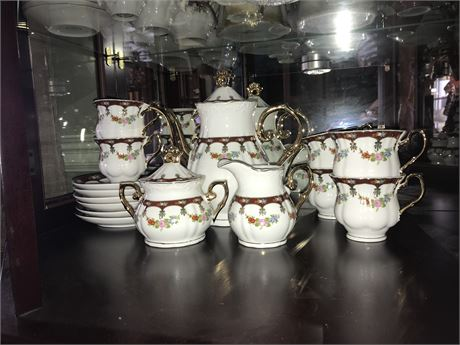 Italian Design Fine Porcelain Tea Set