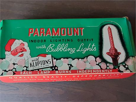 Vintage Paramount Bubbling Lights