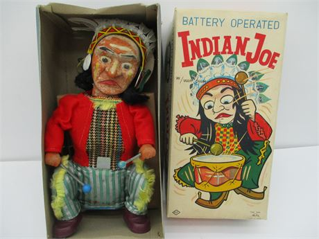 """Genuine """" INDIAN JOE""""  ALPS Japan In Box 1950's Collectible Toy"""