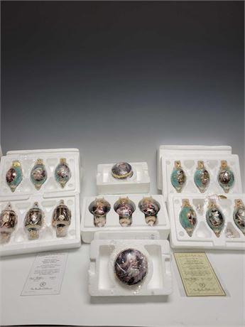 Bradford Editions and Ardleigh Elliott Porcelain Christmas Ornaments