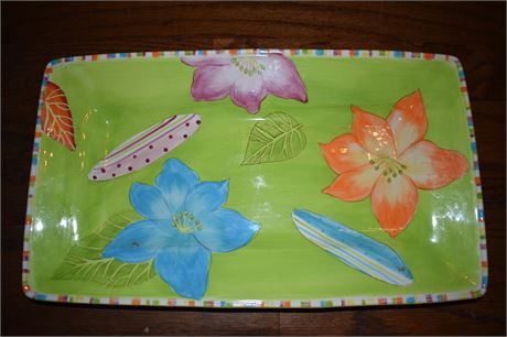 Sunset Grove by Noble Excellence Earthenware serving platter