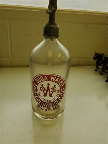 Antique Ohio Soda Water Columbus Seltzer Bottle