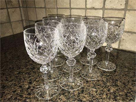 Ten Waterford Water Glasses