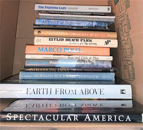 Two Full Boxes of Hardback Novel and Special Interest Books