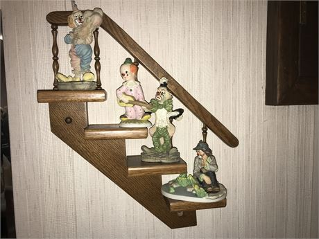 Clowns on Steps Decor Lot