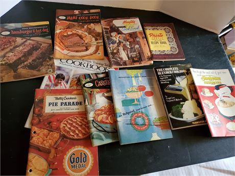 Vintage Cook Book Lot