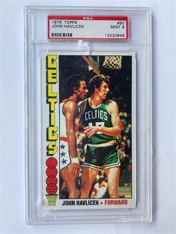 1976 Topps Basketball #90 John Havlicek PSA 9 Celtics