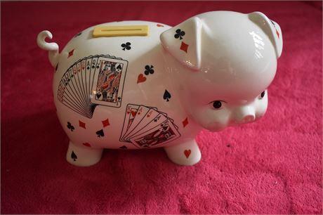 Poker themed Piggy Bank