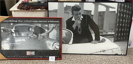 Two Large James Dean Framed Prints