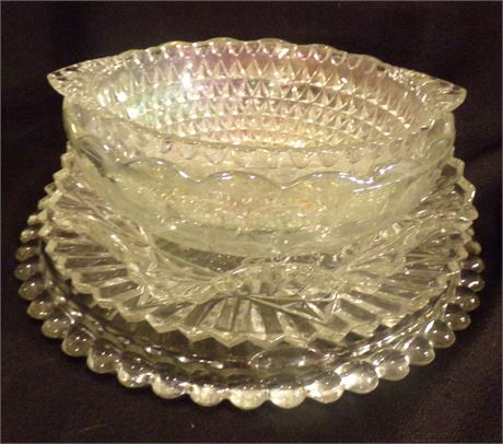 Glass bowls and serving dishes