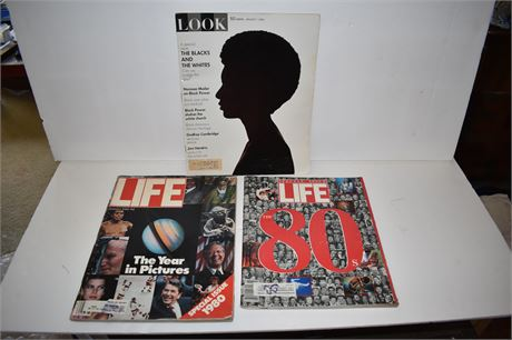 Vintage LIFE and LOOK magazines